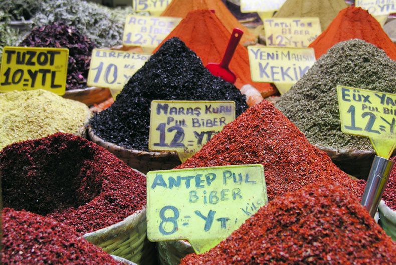 Spices For Sale in Market